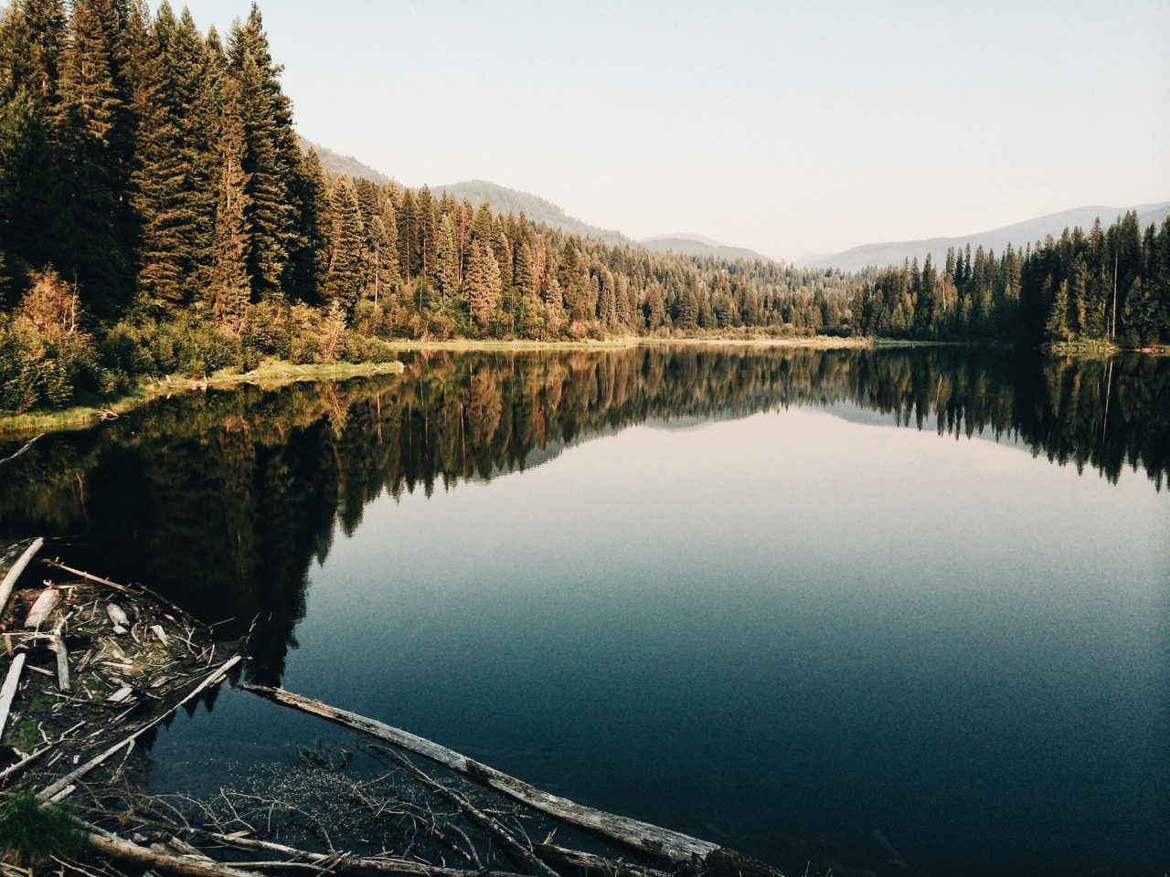 beautiful, indie, lake, landscape, mountains, nature, photo, photography, place, reflection, trees, water