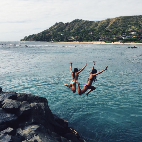 adventure, friends, friendship, jump, teenagers, travel, young wild free, cliff jump