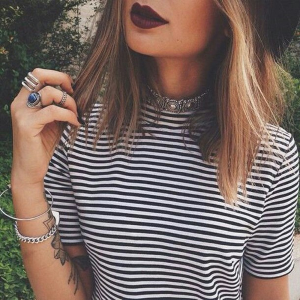 accessories, alternative, blonde, blonde hair, brunette, cosmetics, dark lips, grunge, hair, hairstyle, hat, indie, inspiration, jewelry, lips, lipstick, makeup, necklace, ombre, ootd, outfit, pale, perfect lips, red lipstick, rin, soft, style, top