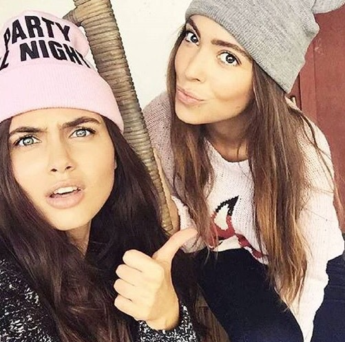 adorable, beanie, best friends, brown hair, brunette, cute, fashion, friends, friendship, girly, inspiration, pretty, quality, style, tumblr, tumblr girl, tumblr hair
