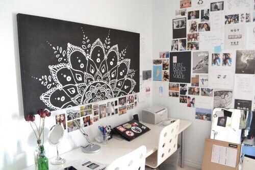 Bedroom design designs desk girls image 3920629 by for Chambre we heart it
