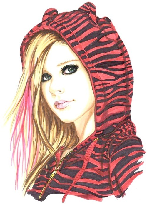 *-*, avril, avril lavigne, awesome, design, drawing, girl, grafico, hair, morri