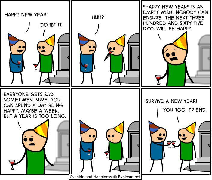 2012, cyanide and happiness, friends, funny, party