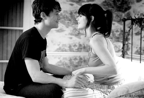 500 days of summer, 500 dias com ela, black and withe, boy, couple