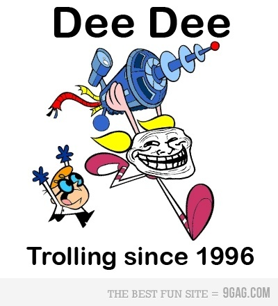 9gag, cartoon network, childhood, dee dee, dexter, laboratory, troll, trollface