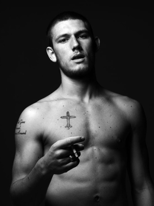 actor, alex pettyfer, attractive, bald, black and white