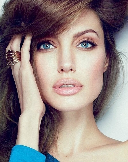 actress, angelina, angelina jolie, beautiful, eyes, lips, model, ring, woman, First Set on Favim.com