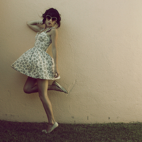 adorable, ballad flat, beautiful, cute, flat, girl, glasses, mini dress, model, photography, vintage