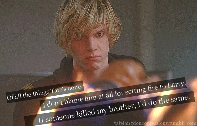 ahs, american horror story, evan peters, tate langdon