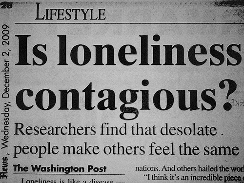 alone, black and white, contagious, cute, funny, loneliness, news paper, text, love, lonely