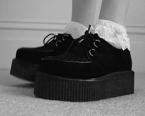 alternative, amazing, black and white, creepers, cute, fashion, girl, lovely, metal, punk, rock