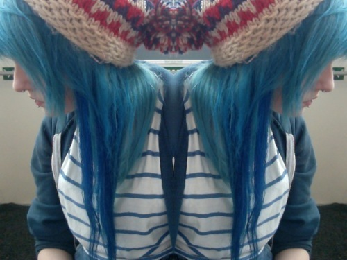 alternative, aquamarine, aquamarine hair, blue, blue hair