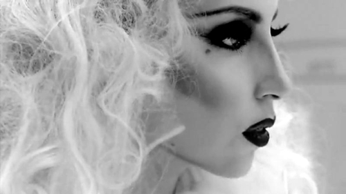 alternative, bad romance, beautiful, beauty, black and white, fashion, gaga, hair, lady gaga, make up, pretty