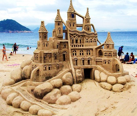 amazing, beach, castillo, castle, ocean