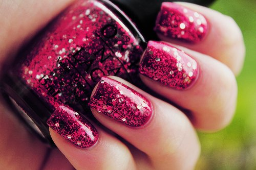 amazing, beautiful, girly, glitter, hand, love, nail, nails, pink, purple, silver, sparkle