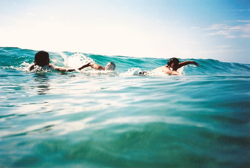 amazing, blue, cool, friends, ocean, sea, swimming, vacation, water