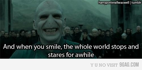 amazing, bruno mars, funny, harry potter, joke, love, music, text, voldemort, when you smile