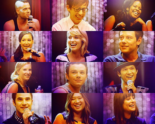 amber riley, boys, chris colfer, cory monteith, darren criss, dianna agron, girls, glee, glee cast, harry shum jr, heather morris, jenna ushkowitz, kevin mchale, laugh, lea michele, mark salling, naya rivera, smile