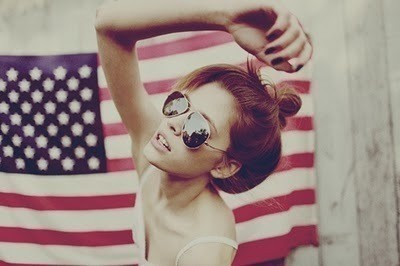 america, american, dream, face, fashion, flag, girl, glasses, hair, hairstyle, life, live, photo, photography, pose, profile, stars, stripes, style, usa, usa flag