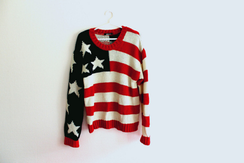american flag, fashion, swagg, sweater - image #316426 on ...