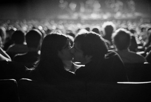 amore, bacio, black and white, boy, cinema