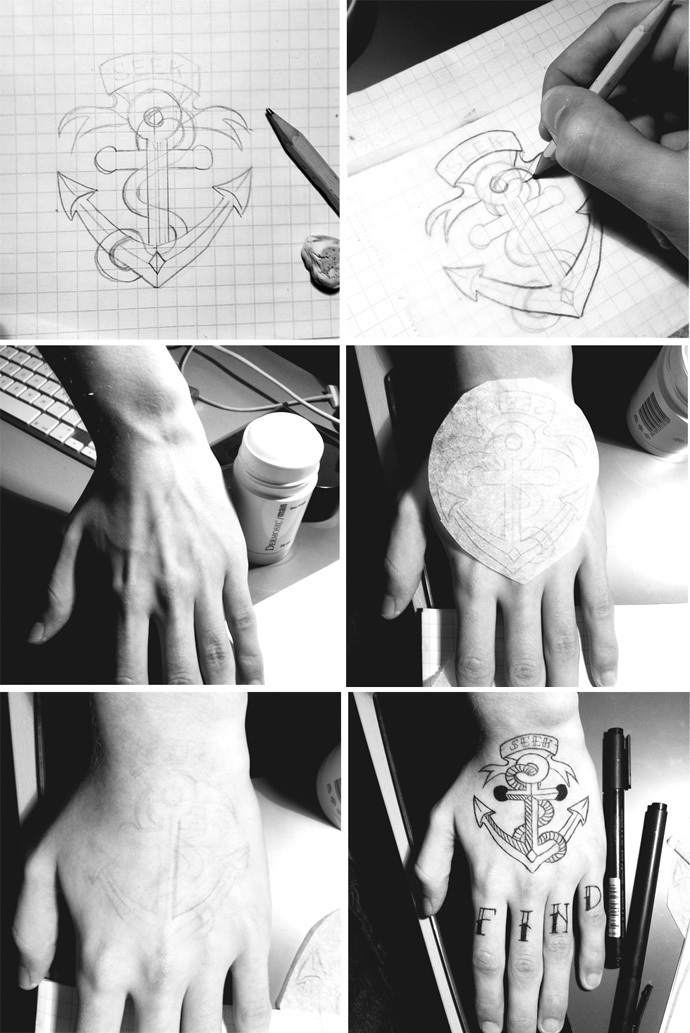 anchor, art, cool and drawing
