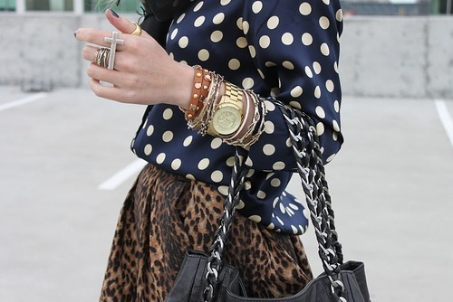 animal print, awesome, bag, beautiful, bracelet, bracelets, clothes, cool, cross, dots, dress, fashion, girls, gold, jewelry, outfit, photography, rings, skirt, street, style, watch