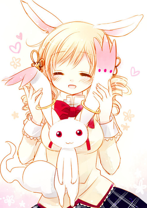 anime, blonde, bunny, bunny ears, cute