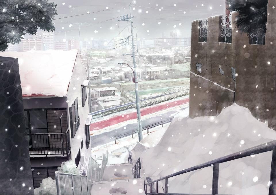 anime home, christmas, manga, snow, tokyo