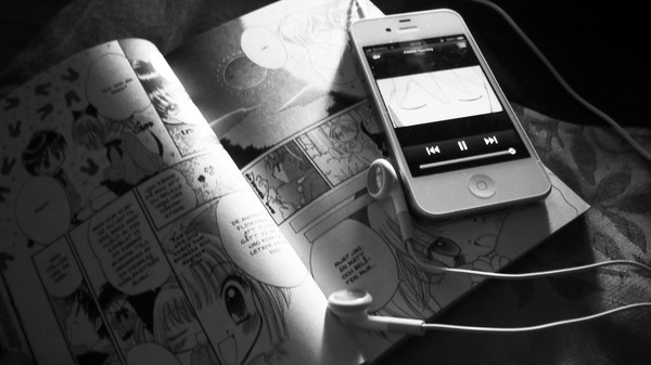 anime, iphone, iphone 4, manga, music