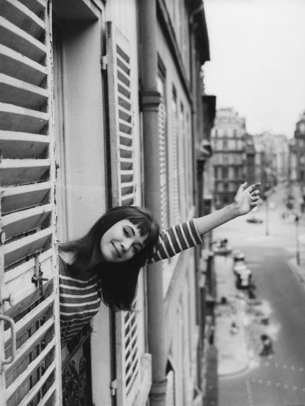 anna karina, b & w, black & white, cute, girl