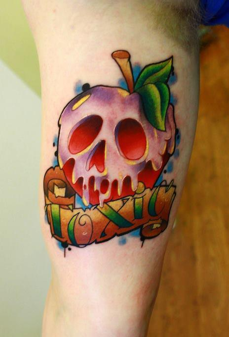 apple, ink, inked, tat, tattoo