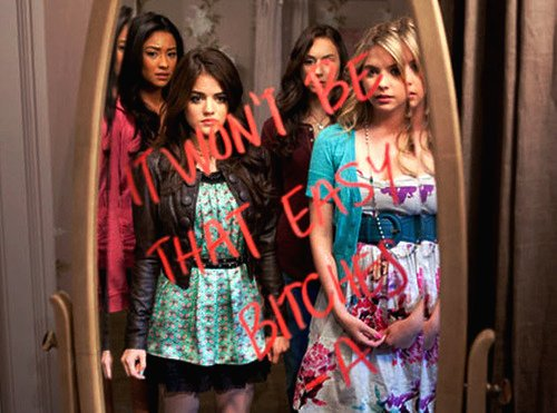 aria, aria montgomery, ashley, ashley benson, bitch
