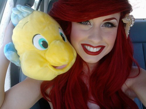 ariel, awn, body, cute, eyes, face, fish, girl, hair, mermaid, mouth, pretty, reamer