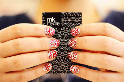 art, nail art, nails, red, white