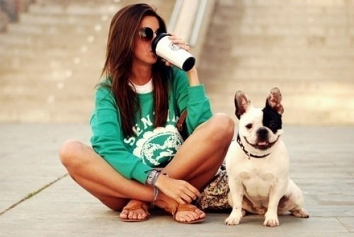 ashley tisdale, coffee, dog, dream, face, fashion, girl, green, hair, hairstyle, life, live, photo, photography, pose, profile, starbucks, street, style