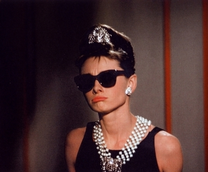 audrey hepburn, diamonds, girl, sunglasses