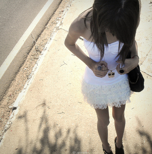 awesome, boots, cute, dress, girl, glam, hair, jewelry, lace, legs, necklace, owl, owl necklace, photo, photography, pretty, ring, rings, shoes, sweet