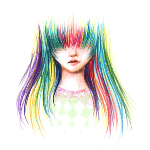 awesome, colorful, design, drawing, girl, grafico, hair, i want, so cute