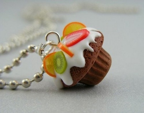 awsome, cake, cupcake, cute, neckless