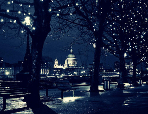 azul, banco, beautiful, bench, berlin, blue, british, city, cool, england, europa, europe, germany, inglaterra, lights, london, londres, luces, lucy, nice, night, noche, photo, photography, st paul cathedral, st pauls cathedral, sweet, trees, white