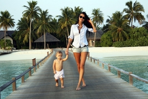 baby, bora bora, girl, island