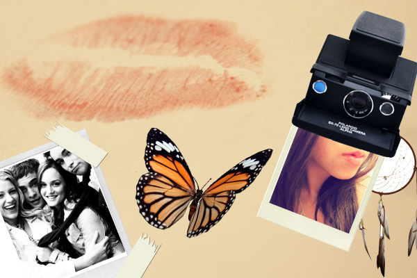 backround, butterfly, camera, collage, dream catcher