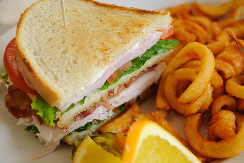 bacon, brown, food, fries, green, ham, lettuce, orange, photography, pink, sandwich, tomato, want, yellow, yum