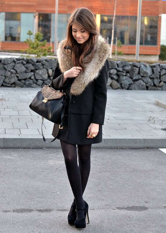 bag, beautiful, black, blogger, brunette
