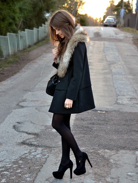 bag, beautiful, black, blogger, brunette, closet, clothes, coat, fashion, fur, girl, gorgeous, hair, handbag, marianna, mariannan, model, outfit, shoes, skinny, style