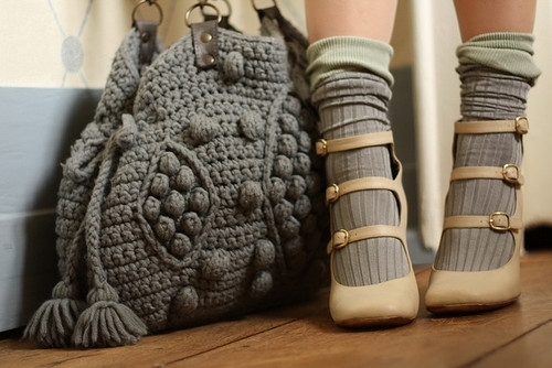 bag, fashion, feet, girl, heels, legs, pumps, shoes, socks, style, wool