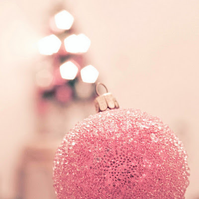 ball, christmas, glitter, pink, pink ornament, shiny, tree