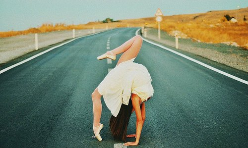 ballerina, ballet, ballet shoes, beautiful, girl, photography, road