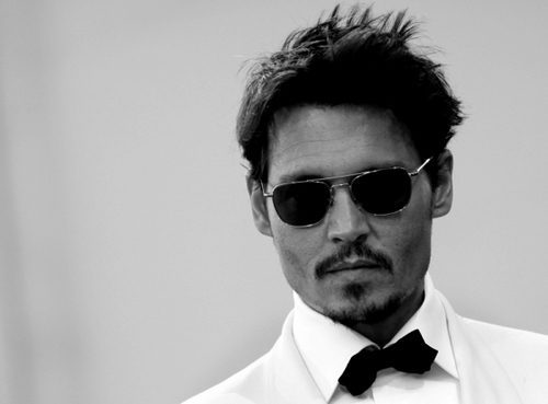 b&w, beard, cute, glasses, hot, johnny depp, photography, sexy